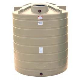 2100 Gallon Beige Vertical Water Storage Tank