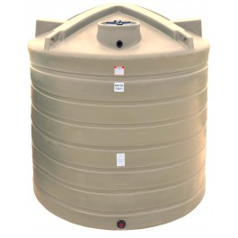 2500 Gallon Beige Vertical Water Storage Tank