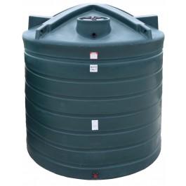 2500 Gallon Dark Green Vertical Water Storage Tank