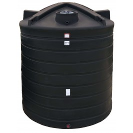 3000 Gallon Black Vertical Water Storage Tank