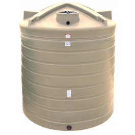 3000 Gallon Beige Vertical Water Storage Tank