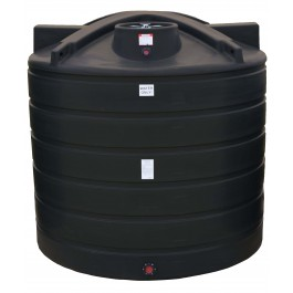7011 Gallon Black Vertical Water Storage Tank