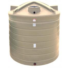 8000 Gallon Beige Vertical Water Storage Tank