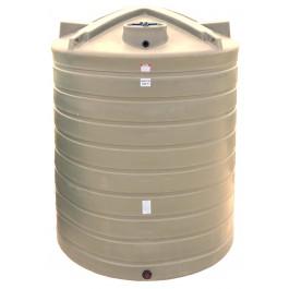 10000 Gallon Beige Vertical Water Storage Tank