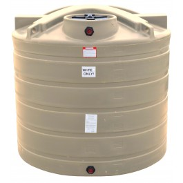 1550 Gallon Beige Vertical Water Storage Tank