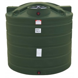 1550 Gallon Mist Green Vertical Water Storage Tank