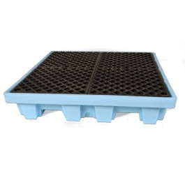 UltraTech 4-Drum Spill Pallet Fluorinated, Without Drain