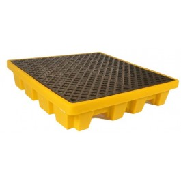 UltraTech 4-Drum Spill Pallet Nestable, Without Drain