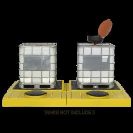 2-Tank UltraTech Modular IBC Spill Pallet