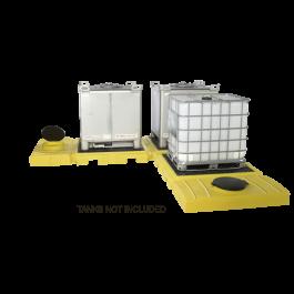 3-Tank UltraTech Modular IBC Spill Pallet