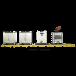4-Tank UltraTech Modular IBC Spill Pallet