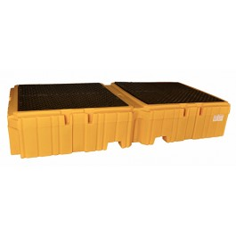 UltraTech Twin IBC Spill Pallet, With Drain