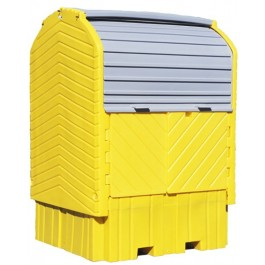 UltraTech IBC Hard Top Spill Pallet, With Drain