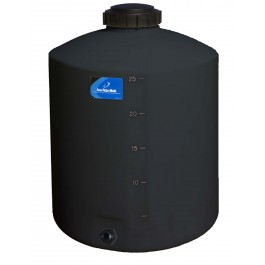 25 Gallon Black Vertical Water Storage Tank