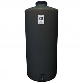 40 Gallon Black Vertical Water Storage Tank