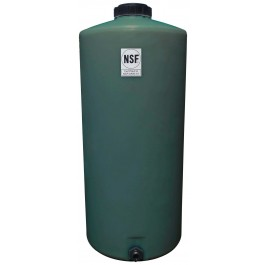 40 Gallon Green Vertical Water Storage Tank