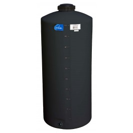 55 Gallon Black Vertical Water Storage Tank