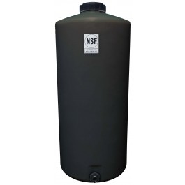 65 Gallon Black Vertical Water Storage Tank