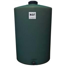 100 Gallon Green Vertical Water Storage Tank