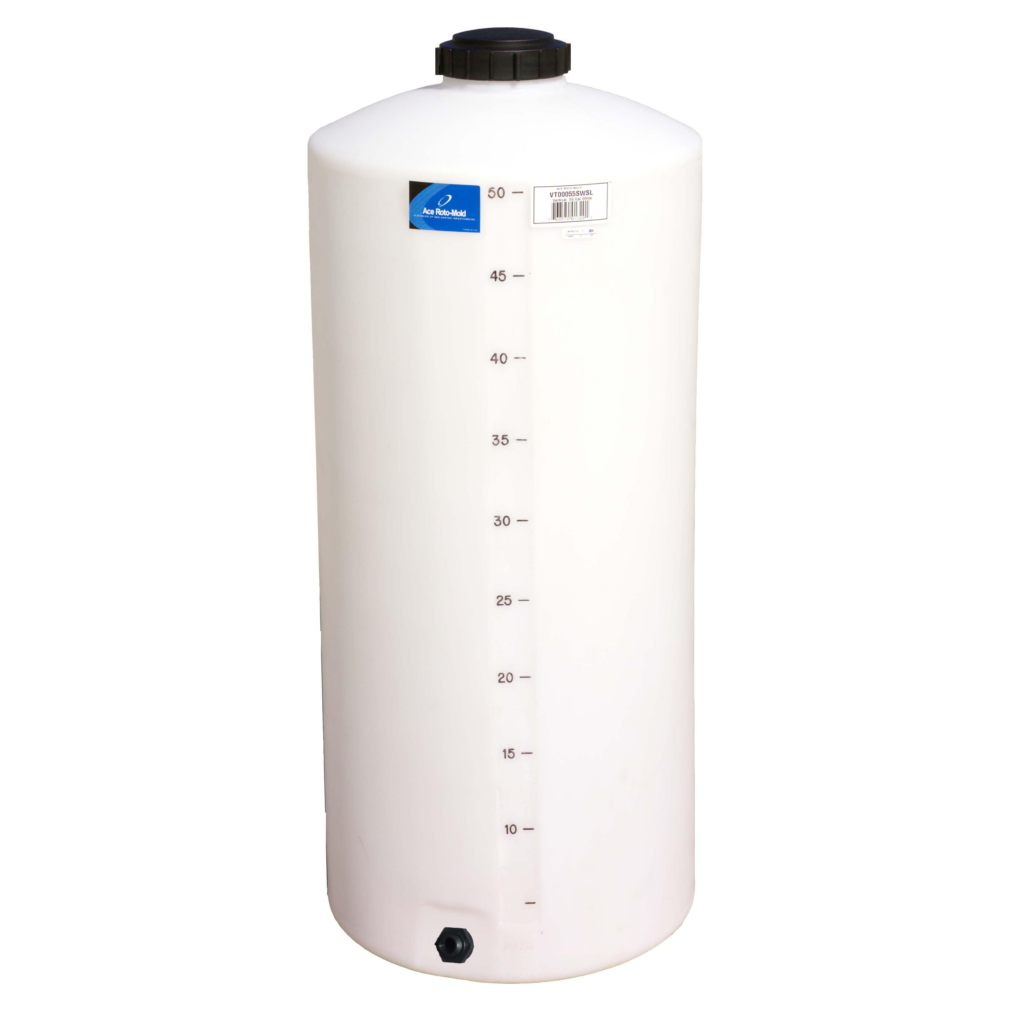 55 Gallon White Vertical Storage Tank | Ace VT0055-20
