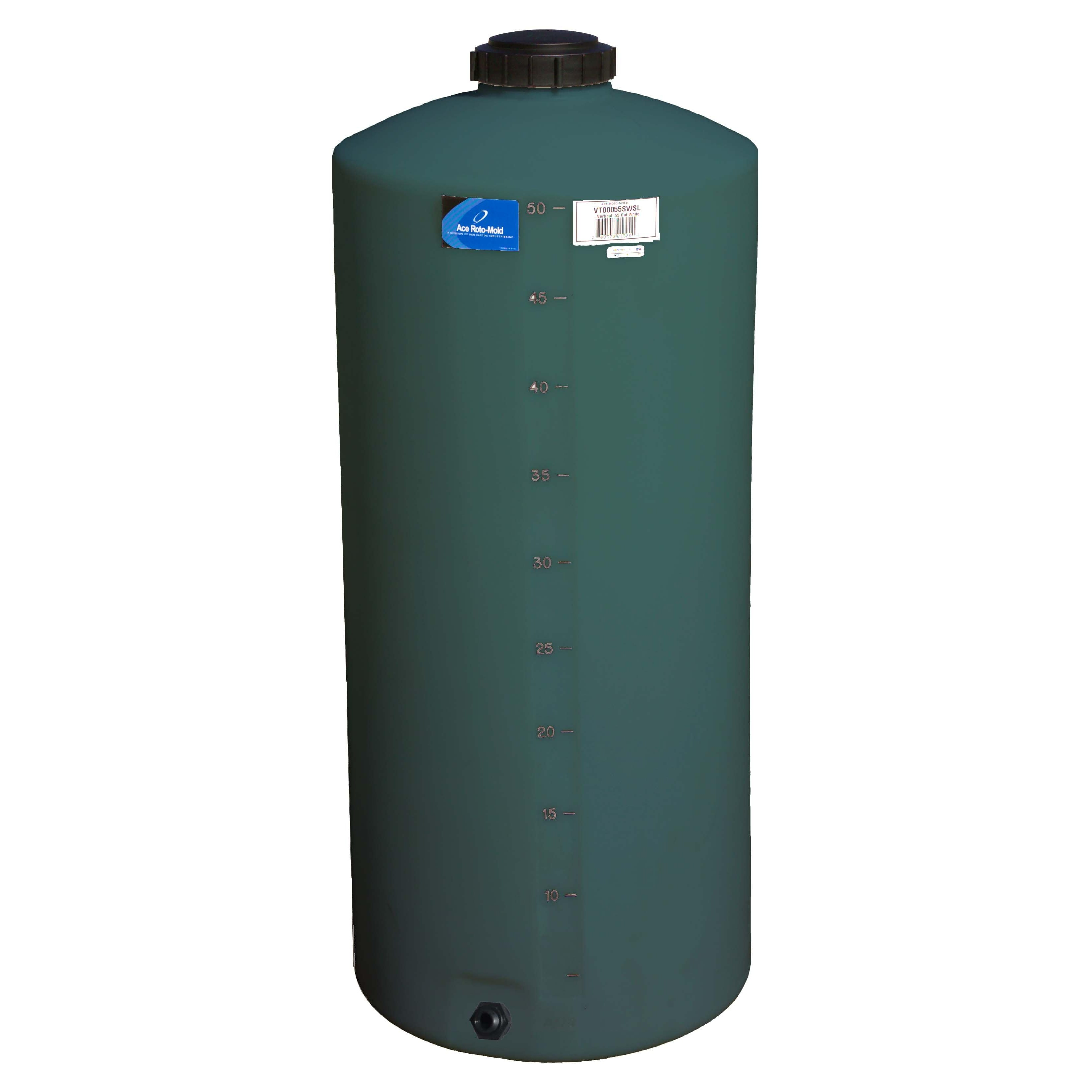 55 Gallon Green Vertical Water Storage Tank | Ace VT0055-20G