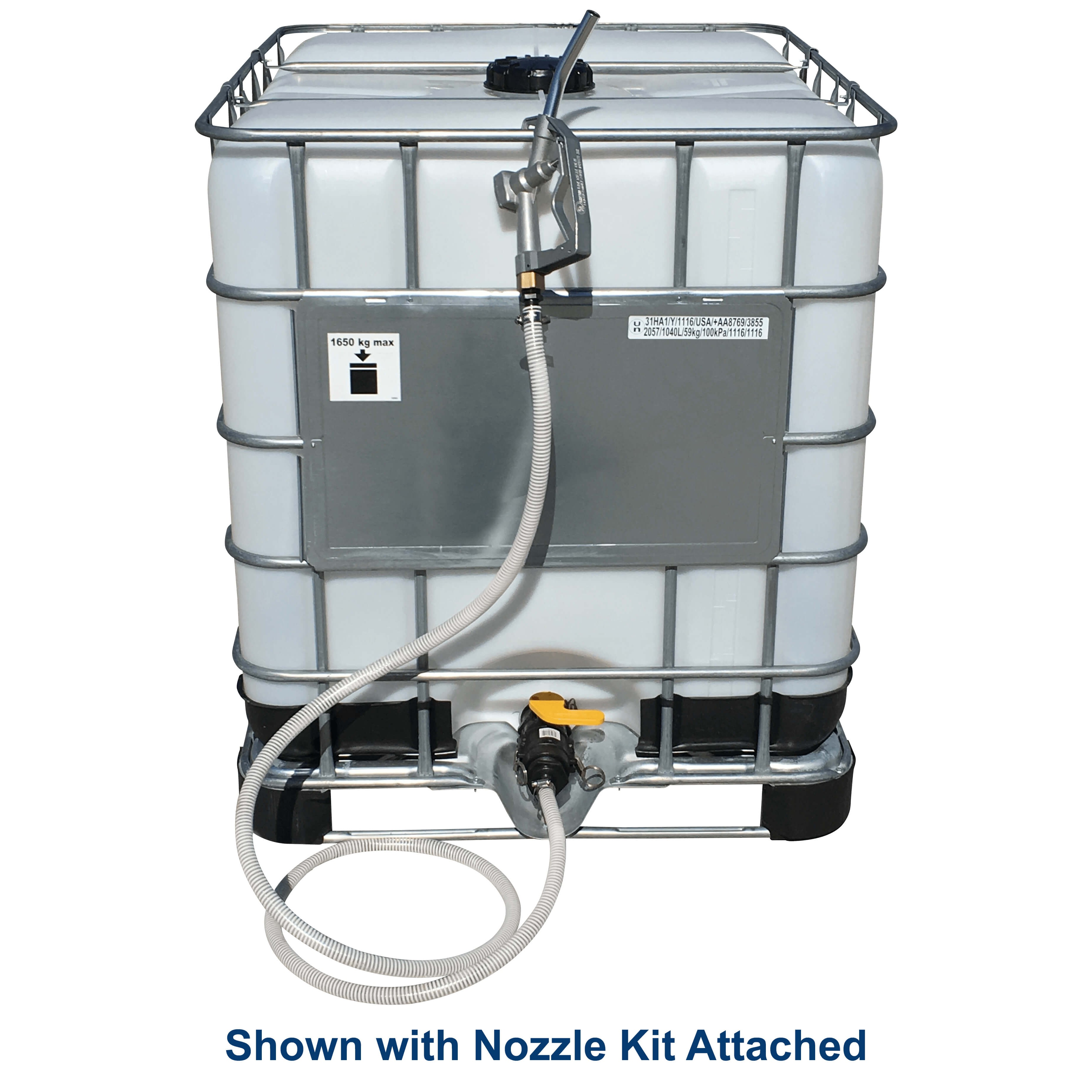 330 Gallon White IBC Tote Portable Tank | NTO T300