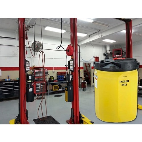 120 gallon waste used oil tank snyder 5700102n95703 for Motor oil storage container