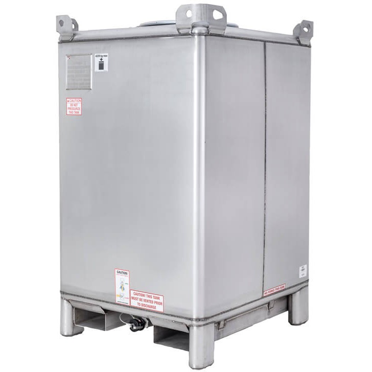 793 Gallon 304 Stainless Steel Supertainer IBC Tote Tank
