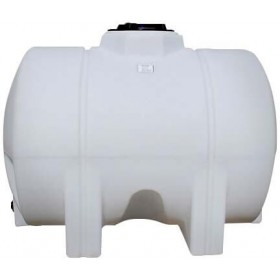 925 Gallon White Horizontal Leg Tank