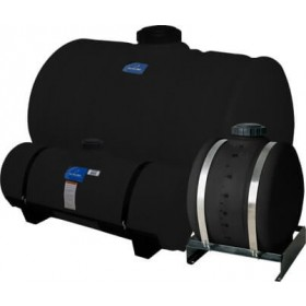 150 Gallon Black Applicator Tank w/ Deep Sump