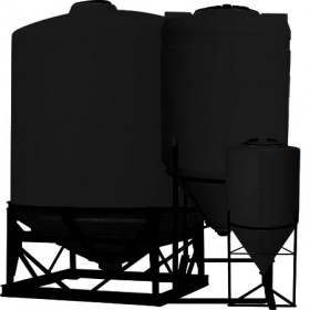 30 Gallon Black Inductor Full Drain Cone Bottom Tank