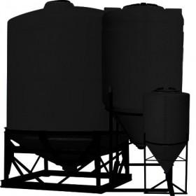 55 Gallon Black Inductor Full Drain Cone Bottom Tank