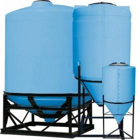 30 Gallon Light Blue Inductor Full Drain Cone Bottom Tank