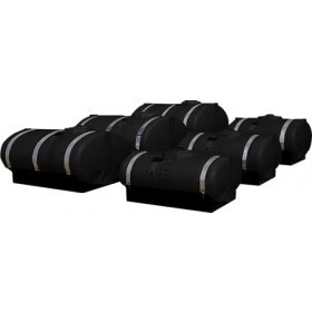 1600 Gallon Black Elliptical Tank