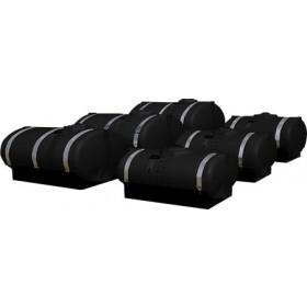 300 Gallon Black Elliptical Tank