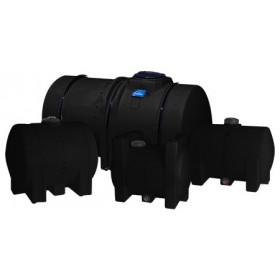 65 Gallon Black Horizontal Leg Tank