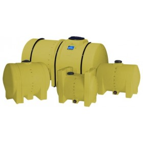 325 Gallon Yellow Horizontal Leg Tank