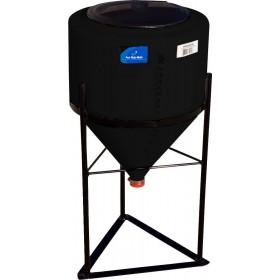 15 Gallon Black Inductor Cone Bottom Tank