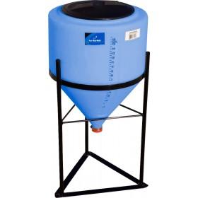 15 Gallon Light Blue Inductor Cone Bottom Tank