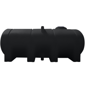 2350 Gallon Black Elliptical Leg Tank