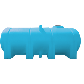 2350 Gallon Light Blue Elliptical Leg Tank