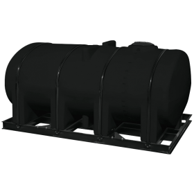 2750 Gallon Black Elliptical Leg Tank