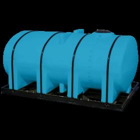 2750 Gallon Light Blue Elliptical Leg Tank