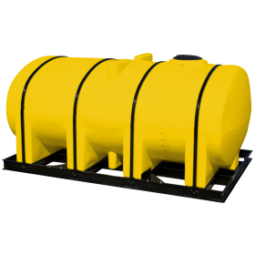 2750 Gallon Yellow Elliptical Leg Tank