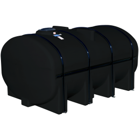 3250 Gallon Black Elliptical Leg Tank