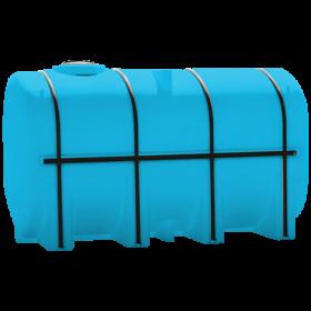 3750 Gallon Light Blue Elliptical Leg Tank