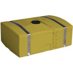 110 Gallon Yellow Low Profile Transport Tank