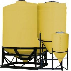 350 Gallon Yellow Cone Bottom Tank