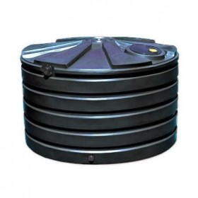 1110 Gallon Black Rainwater Collection Storage Tank