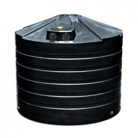 1320 Gallon Black Rainwater Collection Storage Tank